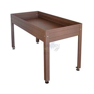Mesa de cultivo lacada marrón 150x75 cm